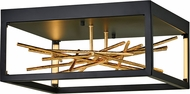 Fredrick Ramond FR46401BLK Styx Modern Black LED Flush Mount Lighting