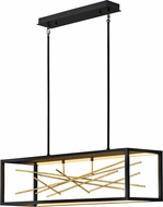 Fredrick Ramond FR46406BLK Styx Modern Black LED Kitchen Island Lighting