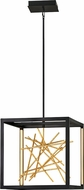 Fredrick Ramond FR46407BLK Styx Contemporary Black LED Foyer Light Fixture