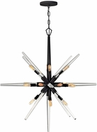 Fredrick Ramond FR47408BLK Ariel Contemporary Black Hanging Pendant Lighting