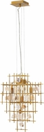 Fredrick Ramond FR47884LGD Petra Contemporary Luster Gold Drop Ceiling Lighting