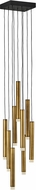 Fredrick Ramond FR49906HBR Harmony Contemporary Heritage Brass LED Multi Pendant Lamp