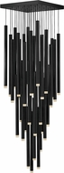 Fredrick Ramond FR49908BLK Harmony Modern Black LED Multi Hanging Lamp