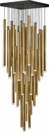 Fredrick Ramond FR49908HBR Harmony Contemporary Heritage Brass LED Multi Hanging Light