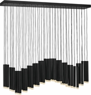 Fredrick Ramond FR49909BLK Harmony Modern Black LED Kitchen Island Light