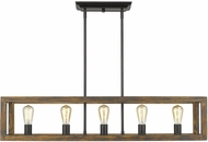 Golden Lighting 0270-LP-BLK Sutton Country Black / Wooden Island Lighting