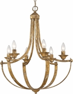 Golden Lighting 0815-6-HG Victoria Heirloom Gold Chandelier Light