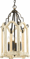 Golden Lighting 0832-4P ABI Octavia Traditional Antique Black Iron Foyer Lighting
