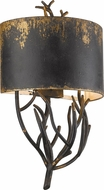 Golden Lighting 0836-WSC-ABI Esmay Country Antique Black Iron Wall Sconce