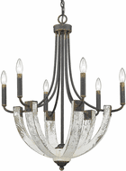 Golden Lighting 0840-6 ABI Elwood Antique Black Iron Chandelier Light