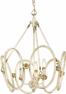 Golden Lighting 0852-3P AI Sabrina Traditional Antique Ivory Mini Lighting Chandelier