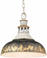 Golden Lighting 0865-L-AGV-ABI Kinsley Aged Galvanized Steel Lighting Pendant