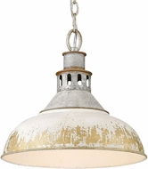 Golden Lighting 0865-L-AGV-AI Kinsley Aged Galvanized Steel Pendant Lamp