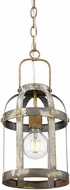 Golden Lighting 0869-1P-CS Bavaria Colonial Steel Mini Pendant Lighting Fixture