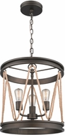 Golden Lighting 1048-3P-GMT Chatham Contemporary Gunmetal Bronze Foyer Lighting