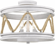 Golden Lighting 1048-SF-GDW Chatham Rustic Gray Driftwood Ceiling Light