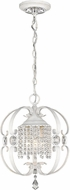 Golden Lighting 1323-M3-FW Ella French White Entryway Light Fixture