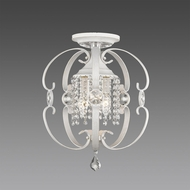 Golden Lighting 1323-SF-FW Ella FW French White Ceiling Light