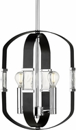 Golden Lighting 1374-2P-CH-BLK Ariana Chrome Hanging Pendant Light