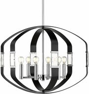 Golden Lighting 1374-6P-CH-BLK Ariana Chrome Hanging Light Fixture