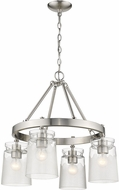 Golden Lighting 1405-4-PW-CAG Travers Contemporary Pewter Mini Chandelier Light