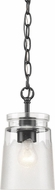 Golden Lighting 1405-M1L-BLK-CAG Travers BLK Black Mini Pendant Light