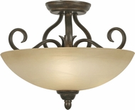 Golden Lighting 1567-SF-PC Riverton Peppercorn Flush Mount Lighting / Pendant Lighting