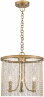 Golden Lighting 1771-3P-PG-PRL Marilyn Contemporary Peruvian Gold 15  Pendant Light