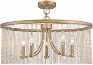Golden Lighting 1771-5SF-PG-PRL Marilyn Peruvian Gold Ceiling Lighting Fixture
