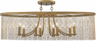 Golden Lighting 1771-8SF-PG-CRY Marilyn Peruvian Gold Ceiling Light Fixture