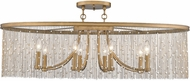 Golden Lighting 1771-8SF-PG-PRL Marilyn Peruvian Gold Flush Lighting