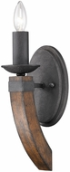 Golden Lighting 1821-1W-BI Madera Country Black Iron Lighting Wall Sconce