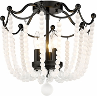 Golden Lighting 1888-SF BLK-FCB Tiara Matte Black Ceiling Light