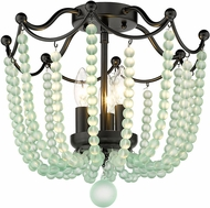 Golden Lighting 1888-SF BLK-SCB Tiara Matte Black Ceiling Light Fixture