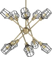 Golden Lighting 1945-10 OG-WIRE-BLK Axel Contemporary Olympic Gold 43 Chandelier Light