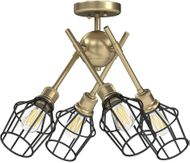 Golden Lighting 1945-SF OG-WIRE-BLK Axel Contemporary Olympic Gold Ceiling Lighting