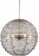 Golden Lighting 1993-L-PS Joia Peruvian Silver Large Pendant Lighting