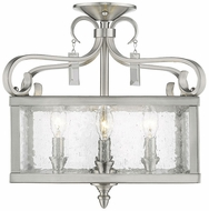 Golden Lighting 2049-SF-PW Valencia Pewter Ceiling Light Fixture