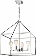 Golden Lighting 2072-4-CH Wesson Contemporary Chrome Mini Hanging Chandelier