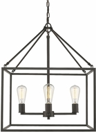 Golden Lighting 2072-4-RBZ Wesson Contemporary Rubbed Bronze Foyer Light Fixture