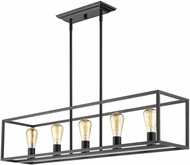 Golden Lighting 2072-LP-BLK Wesson Modern Black Island Lighting