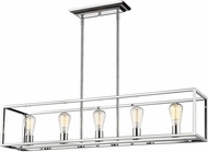 Golden Lighting 2072-LP-CH Wesson Contemporary Chrome Kitchen Island Lighting