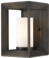 Golden Lighting 2073-1W-GMT-OP Smyth Modern Gunmetal Bronze Wall Light Sconce