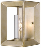 Golden Lighting 2073-1W-WG-CLR Smyth Modern White Gold Wall Sconce