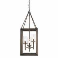 Golden Lighting 2073-3P-GMT Smyth Contemporary Gunmetal Bronze Entryway Light Fixture
