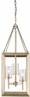 Golden Lighting 2073-3P-WG-CLR Smyth Modern White Gold Foyer Lighting Fixture