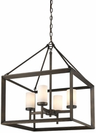 Golden Lighting 2073-4-GMT-OP Smyth Modern Gunmetal Bronze Mini Ceiling Chandelier