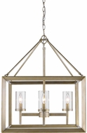Golden Lighting 2073-4-WG-CLR Smyth Modern White Gold Mini Chandelier Light