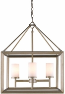 Golden Lighting 2073-4-WG Smyth Contemporary White Gold Mini Hanging Chandelier