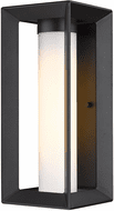 Golden Lighting 2073-OWM NB-OP Smyth Contemporary Natural Black Outdoor Wall Lamp